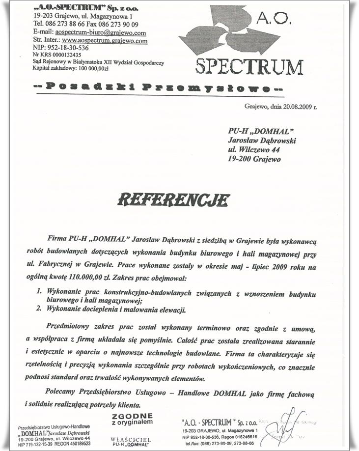 2009 spectrum
